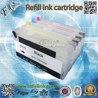 711 Refillable Cartridge With Reset Chip Compatible T120 T520 Printer Ink System Free Shipping