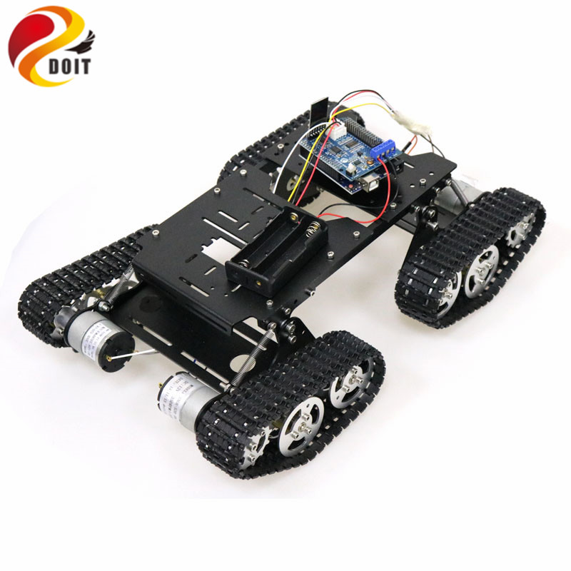 WiFi/Bluetooth/PS2 Control RC 4wd Robot Tank Chassis Kit with UNO R3 Board+ Motor Driver Board for Arduino DIY-in RC Tanks from Toys & Hobbies    1
