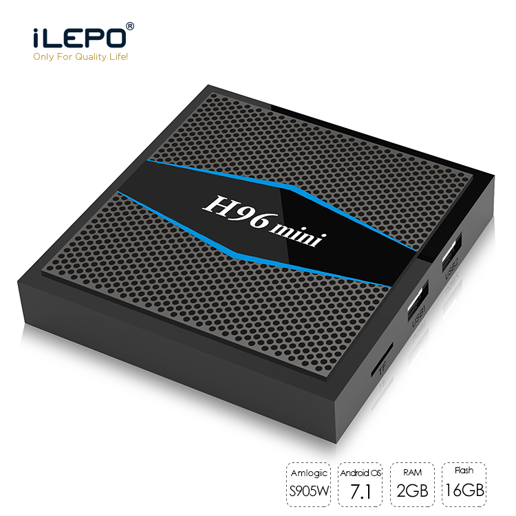 H96 mini Android 7.1 Amlogic S905W Quad Core Smart TV Box  2GB 16GB Support 2.4/5 GHz WiFi  100M LAN Bluetooth 4.0 H.265 4K H96 mini Android 7.1 Amlogic S905W Quad Core Smart TV Box  2GB 16GB Support 2.4/5 GHz WiFi  100M LAN Bluetooth 4.0 H.265 4K