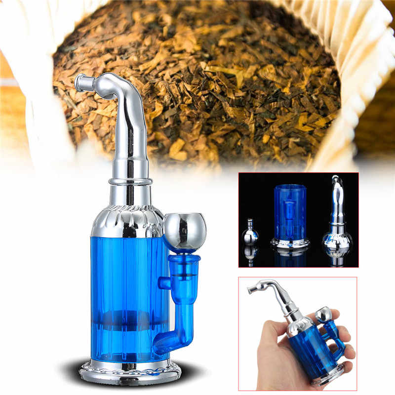 Бутылка водопровод портативный мини кальян водоросли курительные трубки для табака подарок здоровья металлическая трубка магнитный фильтр фильтрации