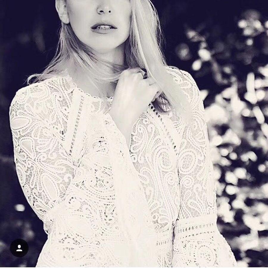 Européenne Couche Manches 2019 Robe Blanc Piste Ressort Gamme cou Midi O Élégant Dentelle Ruches Haut Flare De Femmes OxwrqBO