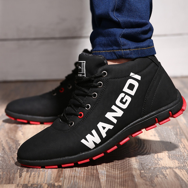 b80a1307861 US $18.56 43% OFF|ZOQI Winter Boots Men Sneakers 2018 Fashion High Top Snow  Boots Men Shoes Non Slip Ankle Boots Mens Casual Shoes Zapatos Hombre-in ...
