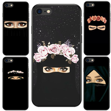 Muslim Islamic Gril Eyes Arabic Hijab Girl soft silicone phone cover Case For iPhone 7 5 5S SE 6 6S 6Plus 6SPlus 7Plus 8 8Plus X