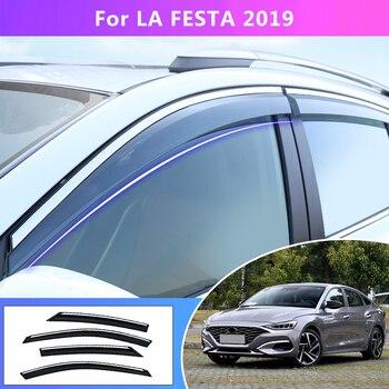 Window Deflectors  For Hyundai LAFESTA 2019 Car Styling Wind Decoration Guard Vent Visor Rain Guards Cover Accessories  4Pcs