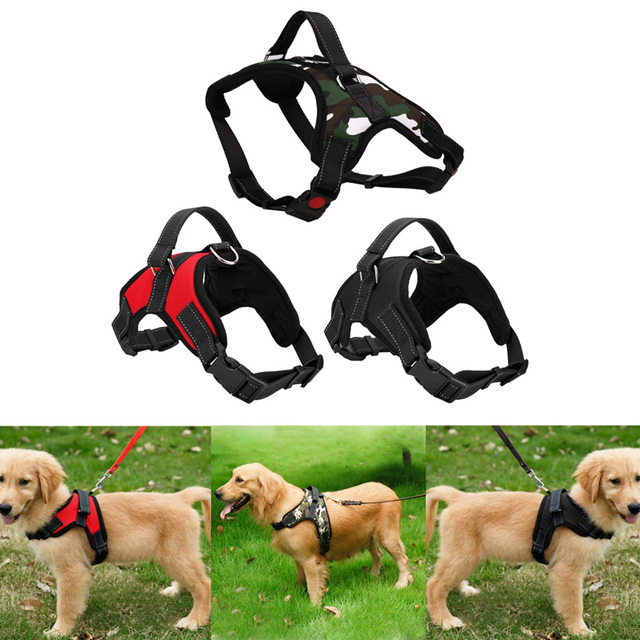 Adjustable Pet Puppy Large Dog Harness for Small Medium Large Dogs Animals Pet Walking Hand Strap Dog Supplies Dropshipping 1