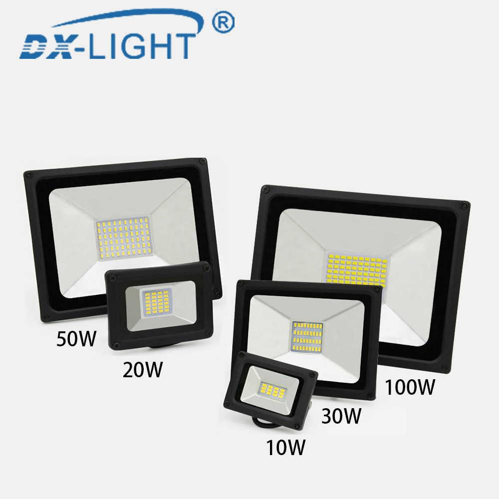 Лидер продаж 10 W 20 W 30 W 50 W 100 W Светодиодный прожектор IP65 Водонепроницаемый Светодиодный прожектор заливающего света отражатель; Светодиодная панель Уличные светильники для наружного освещения