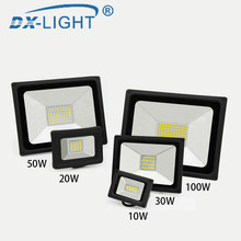 Hot Sale 10W 20W 30W 50W 100W LED Flood Light IP65 Waterproof Led Flood Lamp Reflector LED Floodlight Outdoor Street Lighting(China)