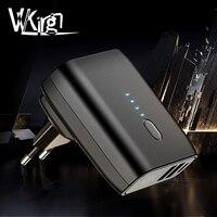 VVKing 5000 mAh Мощность bank 2 USB стены Зарядное устройство 2-в-1 Складная заглушка EU/US быстрой зарядки 2.4A для iPhone huawei samsung Xiaomi USB