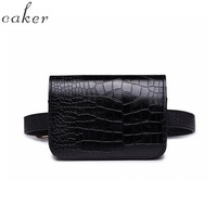 Caker Waist Bag Women Alligator PU Leather Belt Bag Waist Pack Travel Belts Wallet Case Fanny Blue Bags Ladies Wholesale Retail