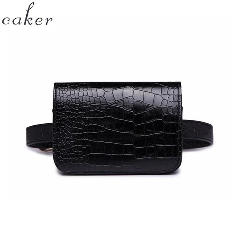 Caker Waist Bag Women Alligator PU Leather Belt Bag Waist Pack Travel Belts Wallet Case Fanny Blue Bags Ladies Wholesale Retail