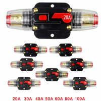 Reset Automatische Schaltung breker12V-24V 20A 30A 40A 50A 60A 80A 100A DC Stereo Audio Breaker Reset Sicherung Inverter für auto motor