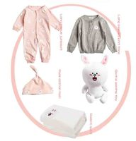 5 Pieces Baby Girls Boy Spring Autumn Sets Wear Long Sleeve Kids Rabbit Toy Clothing