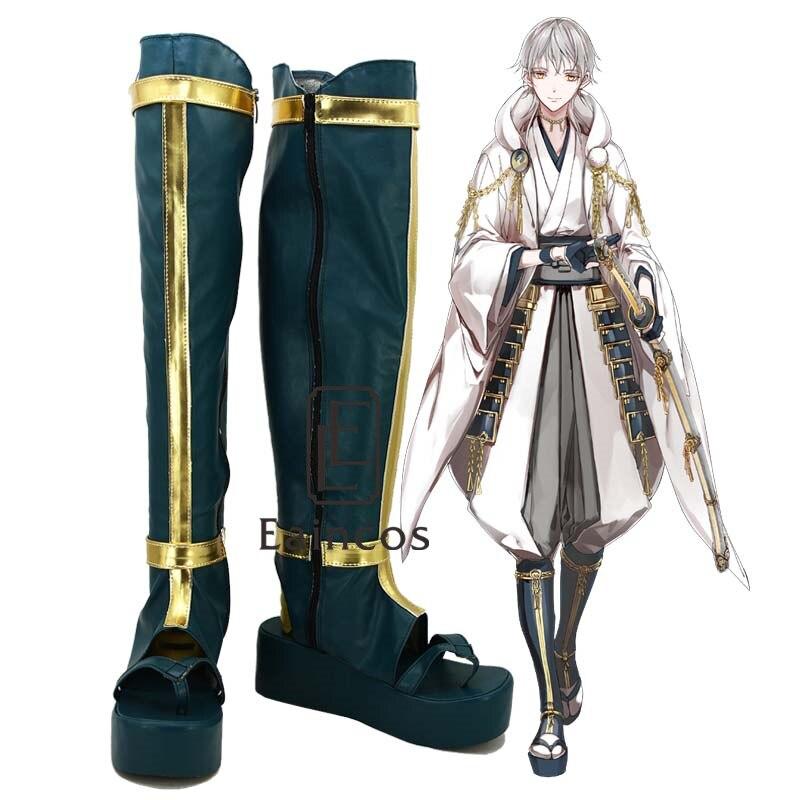 Popular Game Touken Ranbu Online Tsurumarukuninaga Boots Cosplay Party Shoes Custom Made