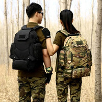 Military Camouflage Backpack Backpack 40 Liters Mountaineering Bag High End Wearproof 17 Inch Travel Bag Men