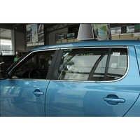 lsrtw2017 304 stainless steel car window trim for skoda fabia 2008 2009 2010 2011 2012 2013 2014 5j