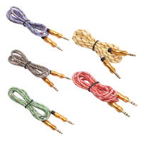 1M 3.5mm Male to Male AUX Audio Extension Cable Auxiliary Cord Stereo Audio Cable Wire for Cellphone Smartphones