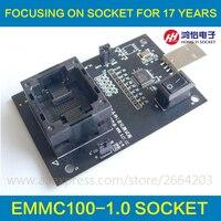 EMMC100 Socket Adapter Smart Digital Device GPS Device Flash Memory Data Recovery Burn In Test Hardware