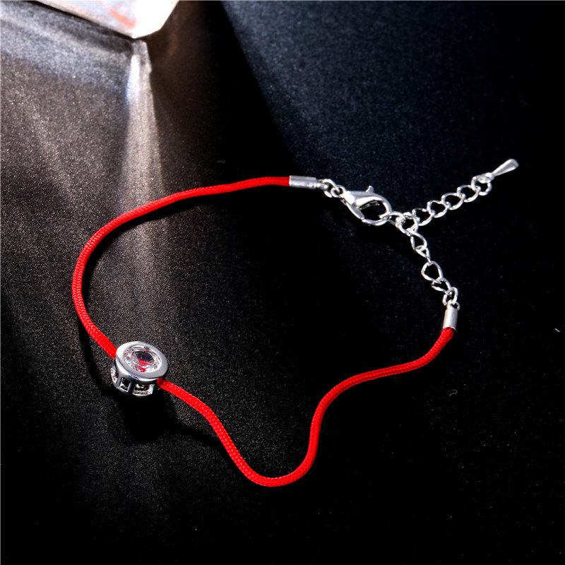 FYM 9 szín piros kötél karkötő kerek 6mm köbös cirkónia varázsát barátság karkötő és karperec nők esküvői fél ékszer ajándék