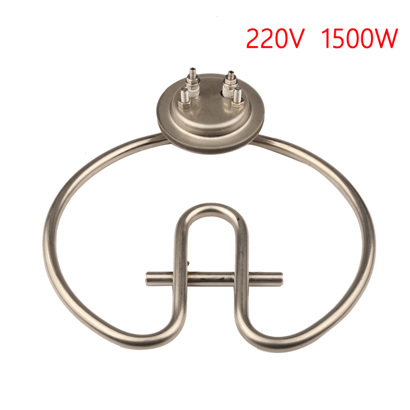 65mm Cap 220V 1500W Coil Heating Element with Fixed Tube Stainless Steel Electirc Heater Parts for Rice Steam Cabinet damien rice cap roig