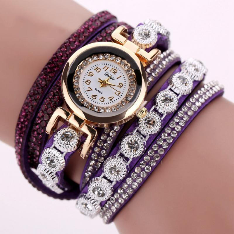 TIke Toker Fashion Luxury Rhinestone Armbandsur Klockor Ladies Quartz - Herrklockor - Foto 6