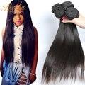 Класс 7а бразильский виргинский волосы прямые бразильские прямо 4 шт. много дешево бразильские необработанные пучки волосков интернет магазин волос