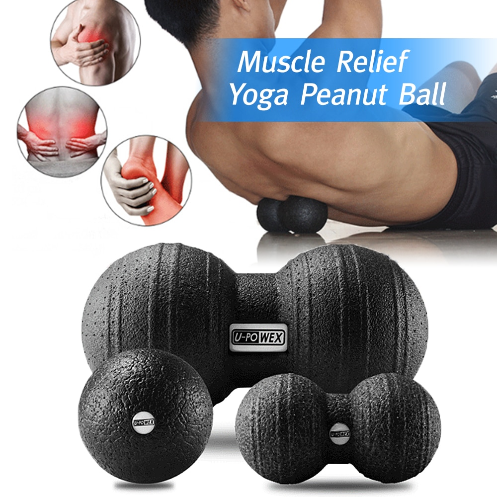 New Yoga EPP Massage Ball Peanut Muscle Recovery Ball Myofascial Release Therapy Tool Yoga Fitness Muscle Relief Ball 2019