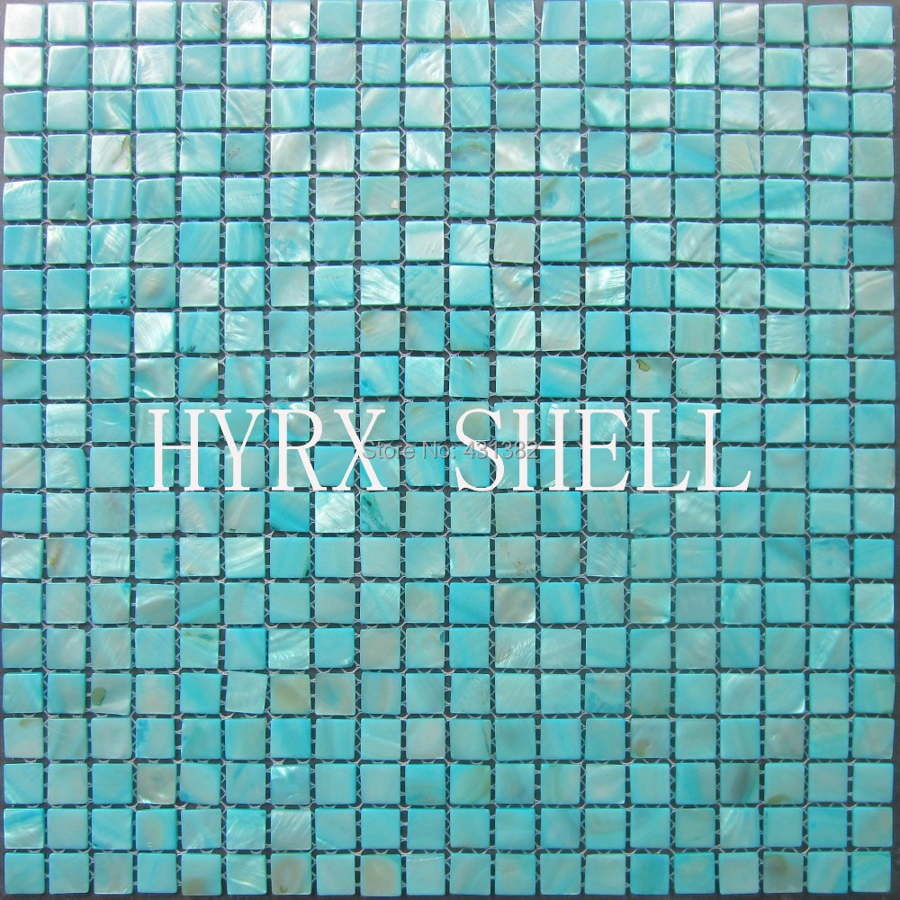 keuken tegels decoratie : Blauw Peer Tegels Shell Moza Ek Decoratieve Parelmoer Tegels