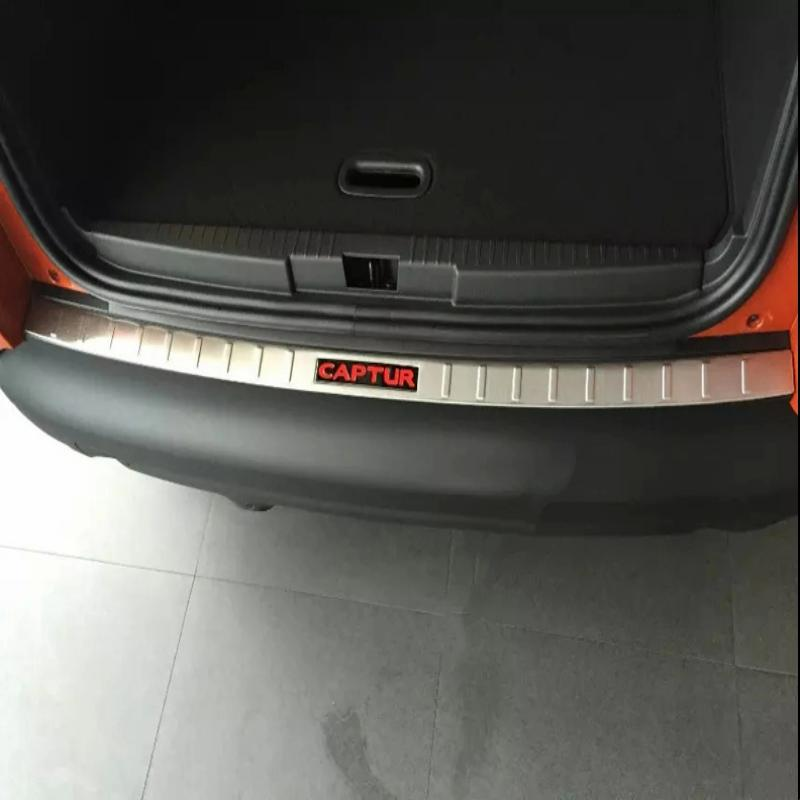 Автомобиль укладки аксессуаров для Renault Captur заднего бампера протектор ног пластина Нержавеющаясталь арьергард потертости Стикеры 2015-2018