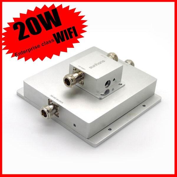 Amplificateur extérieur de Signal de WiFi de réseau sans fil Original de Sunhans 20 W 43dBm 2.4 GHz amplificateur extérieur de Signal de WiFi