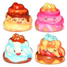 Kawaii Cute Poo Squishy Slow Rising Cake Cream Scented Stress Relief Toys