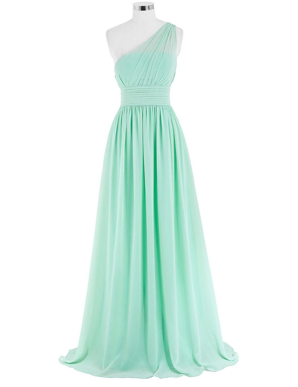 Kate Kasin Mint Green Bridesmaid Dresses Long Wedding Party Dresses One Shouler Bruidsmeisjes Jurk Pink Bridemaid Dress 0200 7