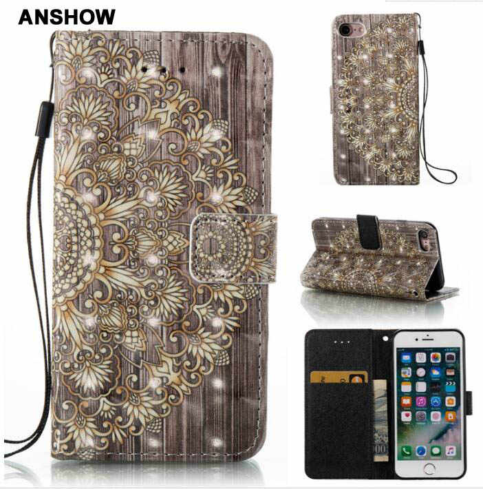 Lace Wood Flower Wallet Leather For Iphone Xr Xs Max X 8 7 Plus 6
