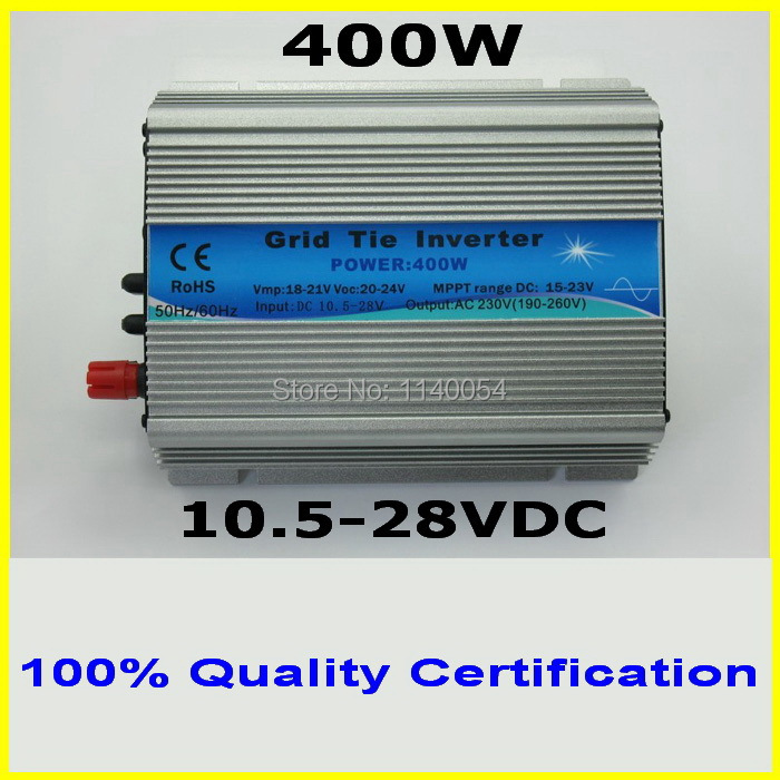400W MPPT Grid Tie Micro Inverter 10.5-28VDC to AC120V/230V Pure Sine Wave Power Inverter used for 400-480W 18V PV Panel Modules 1500w grid tie power inverter 110v pure sine wave dc to ac solar power inverter mppt function 45v to 90v input high quality