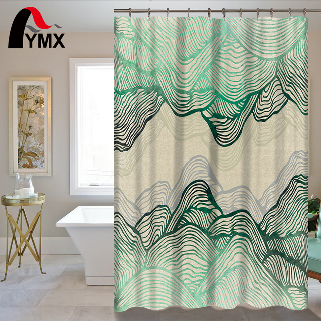 RU Waterproof Shower Curtain With Hooks Girl Bathroom Curtains High Quality Accessories Wholesale Price Supplier