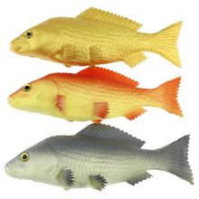 Gresorth 3 Pack Artificial Red Black Gold Carp Collection Fake Fish Home Party Decoration - 9 inch