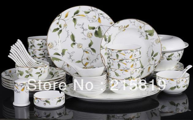 46pcs dinner set fine bone china dinner set tableware set & 46pcs dinner set fine bone china dinner set tableware set-in ...