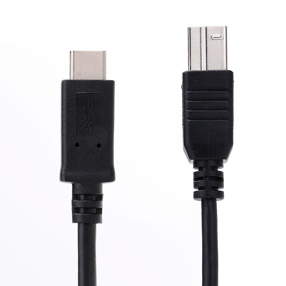 Micro Usb 3.1 Typ C Stecker Auf Standard Typ B Usb 3.0 Männlichen Daten Kabel Für Neue Macbook 12 Zoll Und Andere Typ-c Geräte Zubehör Und Ersatzteile schwarz