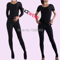 Hot Sale Black Women Girls Adult Fitness Bodysuit Long And Short Sleeve Unitard Gymnastic Leotard Free