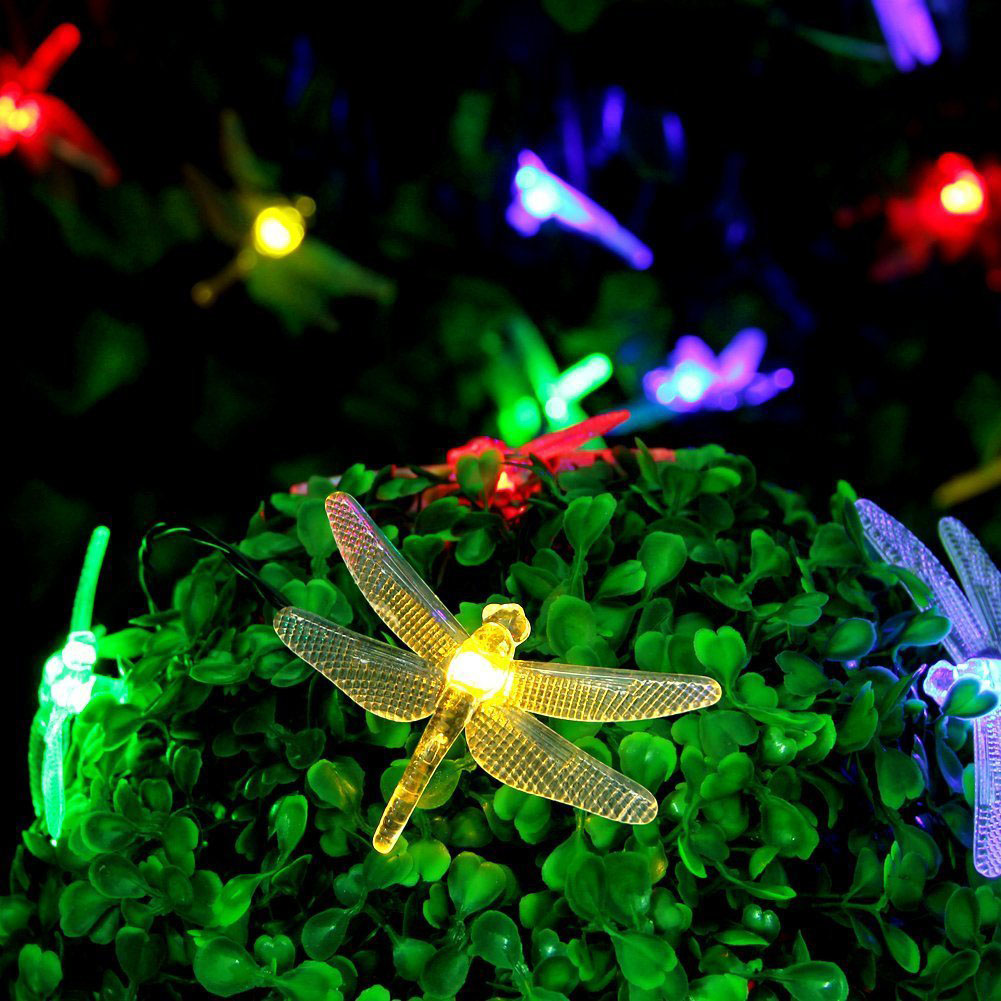 Tamproad waterproof outdoor solar dragonfly led night lights solar tamproad waterproof outdoor solar dragonfly led night lights solar lamps holiday festival weddings easter decoration 16ft 20 led in night lights from lights mozeypictures Gallery