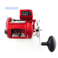 2017 New Red Right and Left Hand Bait Casting Fishing Reel with counter 12BB High-strength body cast drum wheel