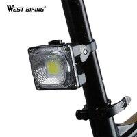 WEST BIKING Super Bright Bike Taillight USB Charging Bicycle Seat Post LED Flashlight Lamp COB Source