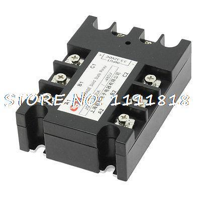 3.5-32VDC/480VAC 80A DC to AC 3 Phase SSR Solid State Relay w Indicator Light high quality ac ac 80 250v 24 380v 60a 4 screw terminal 1 phase solid state relay w heatsink