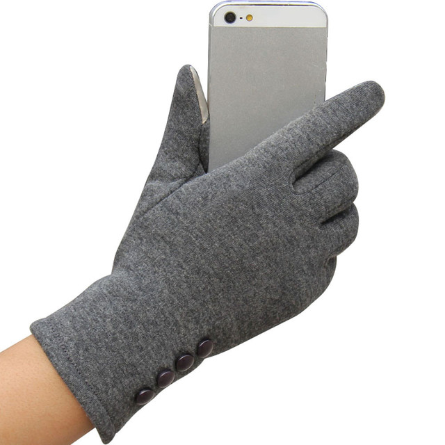 2017 Fashion Women Winter Gloves Female Ladies Girls Cotton Glove Outdoor Warm  Full Finger Gloves YW