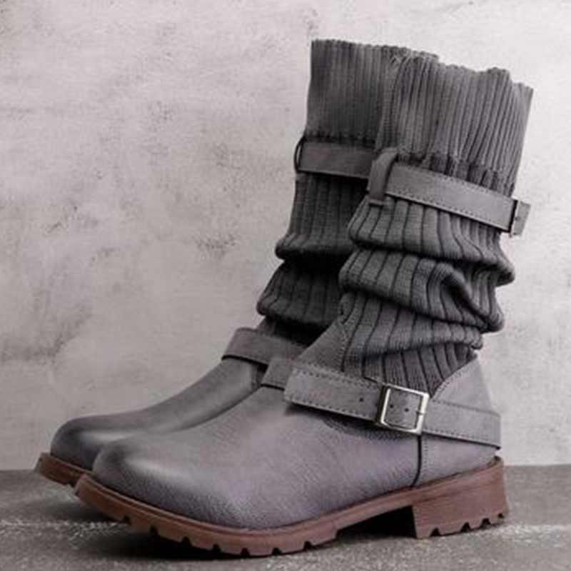MoneRffi tıknaz streç diz elastik çorap ayakkabı kadın 2019 yeni kadın botları moda kadın seksi patik
