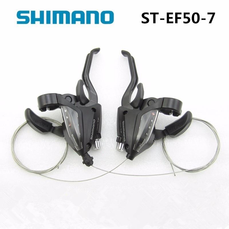 EF500-7 3x7 Velocidades Bicicleta e Alavanca de Freio Aço Shifters Conjunto Shift