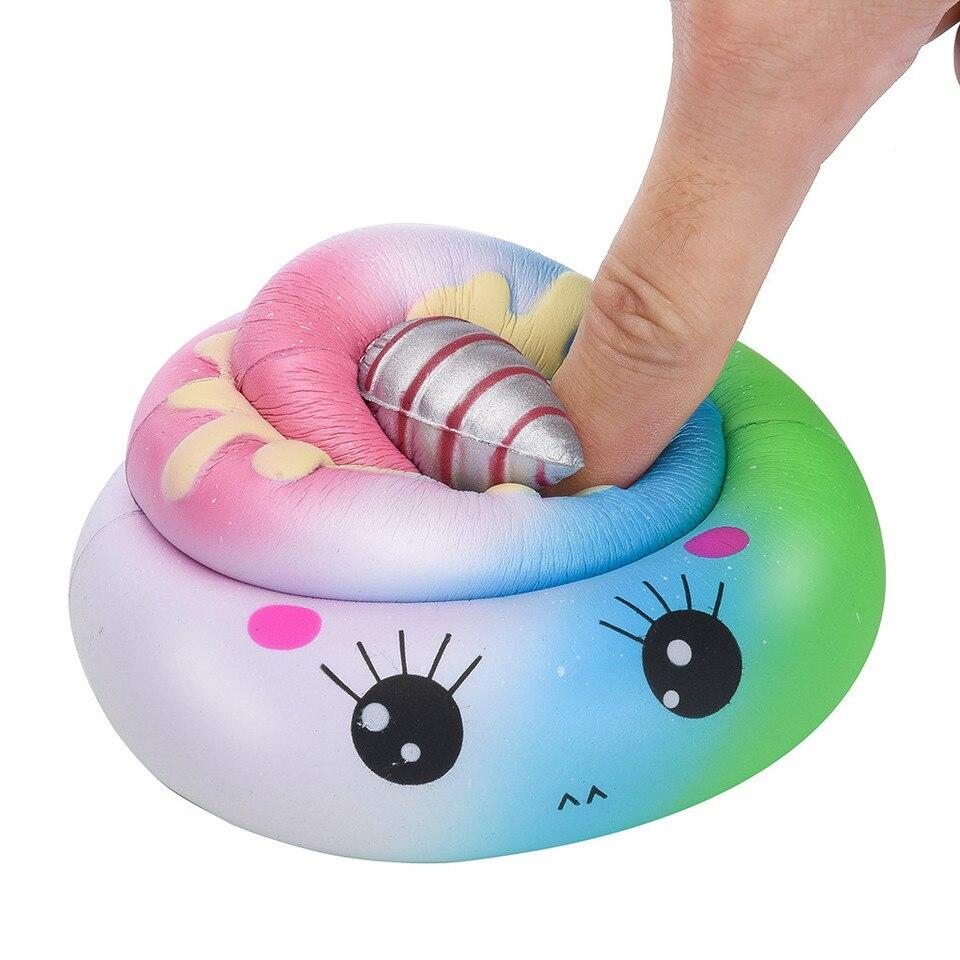 Garciayia Slime Toys Big Peanut Squishy Aumento lento Spremere Cinghie telefoniche Portachiavi Giocattoli di decompressione Palla antistress Colore casual Colore: multicolore