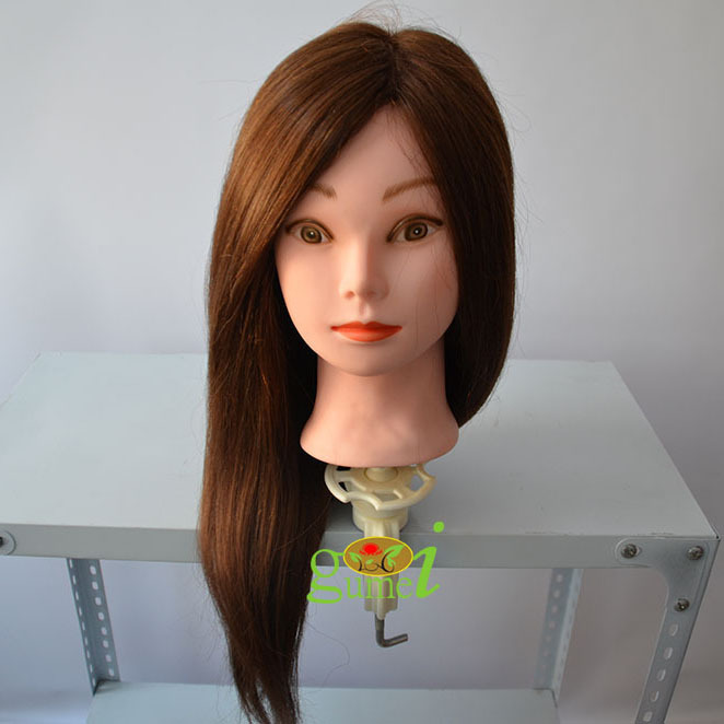 60cm Natural Hair Training Head Real Hair Mannequin Head makeup mannequin head hairdressing-dolls-head manequin head dummy