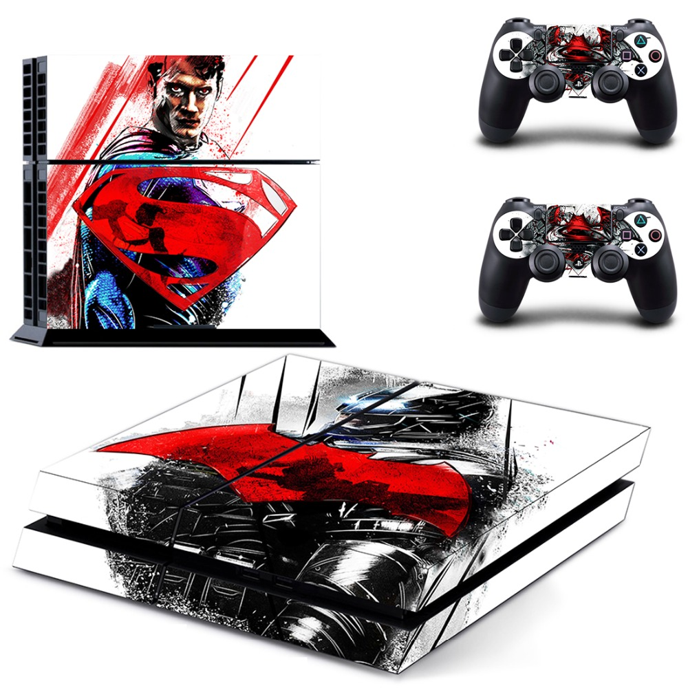Batman v Superman: Dawn of Justice Vinyl Skin Decals Cover for Sony PlayStation 4 Console and 2 Controller Skins