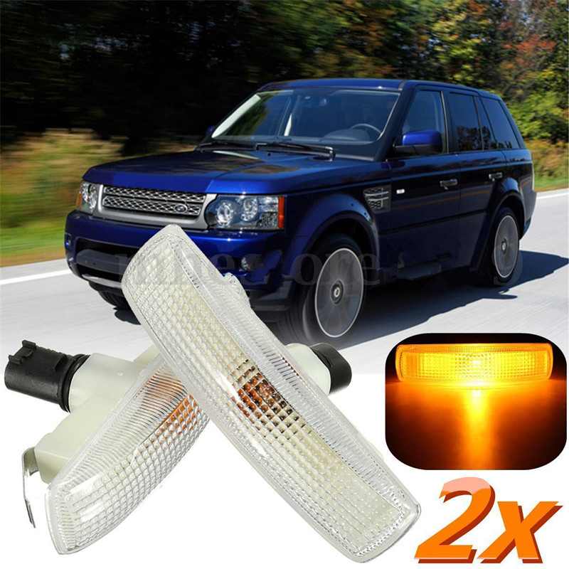 BBQ@FUKA Brand New Car Side Repeater Indicator Light & Bulb Fit For Land Rover /Range Rover /Sport /Freelander/Discovery 2 3 for land rover range rover sport freelander 2 discovery 4 2006 2014 car styling led fog lights lamp crystal blue blue 12v