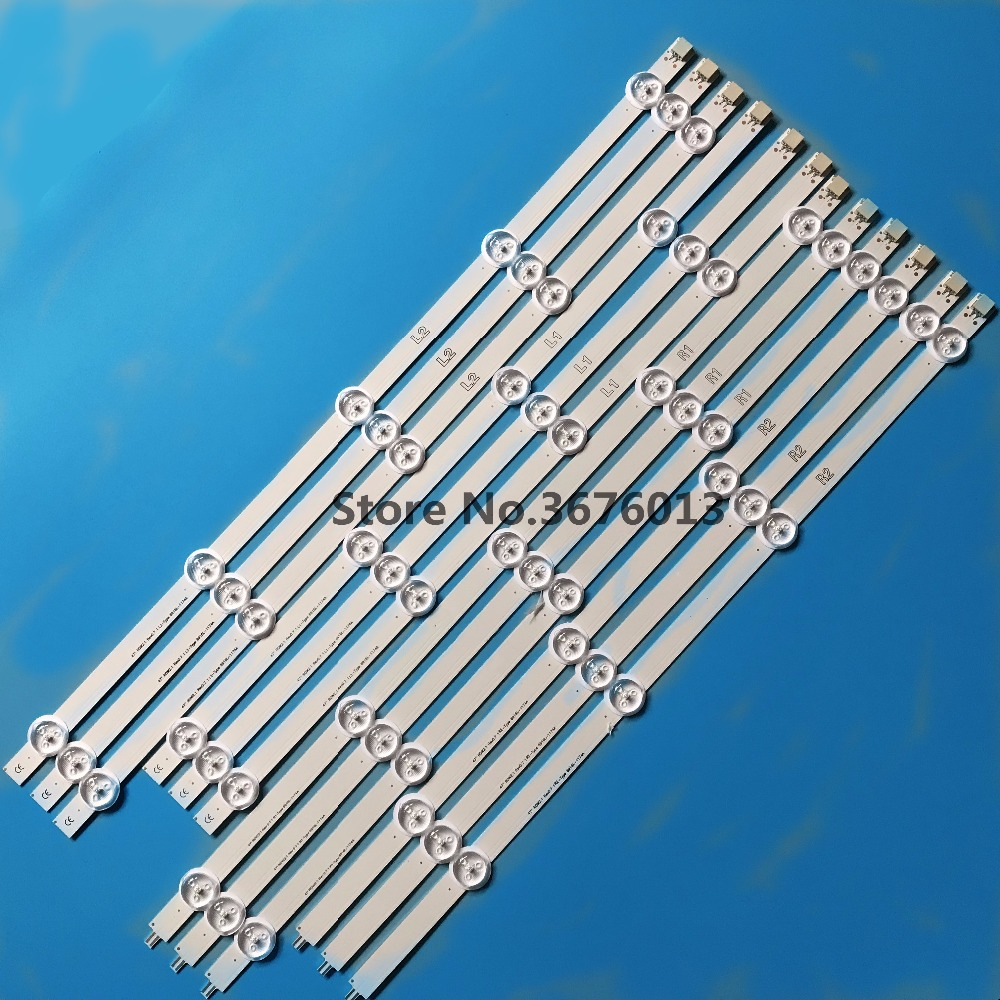 Image 2 - New 12 PCS R1 L1 R2 L2 LED strip Replacement for 47LA6200 47LN5400 6916L 1527A 6916L 1528A 6916L 1547A 6916L 1529A-in LED Bar Lights from Lights & Lighting